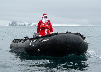 Santa in Antarctica