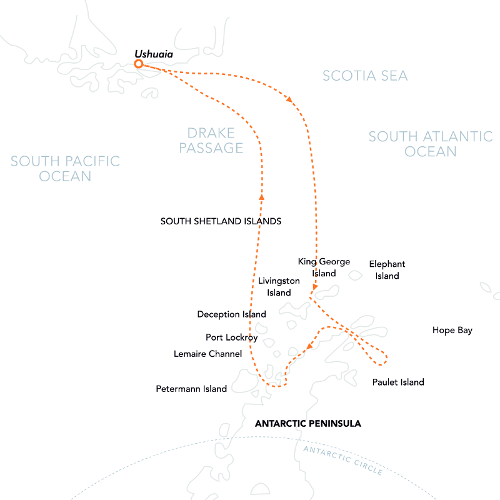 Christmas In Antarctica Route Map