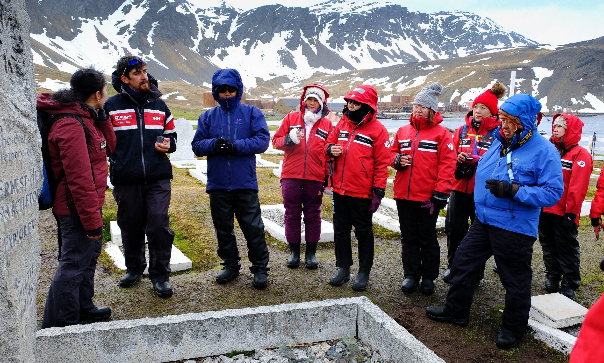 A visit to Shackleton's grave
